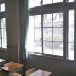 広島女学院ガラスフィルム工事施工後画像