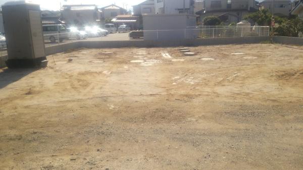 新築事務所兼倉庫2階建て工事施工前画像