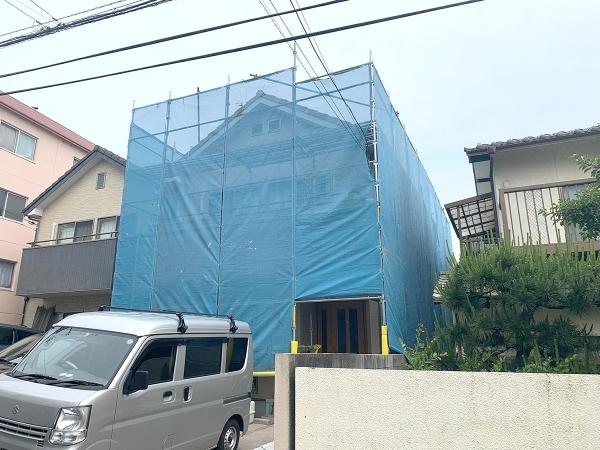 S様邸外壁塗装工事施工前画像